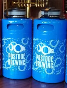NEW LIMITED RELEASE - BLUE White Ink Postdoc Stainless Steel Growler - 64oz